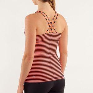 Lululemon Free To Be Tank Top Stripe Inkwell